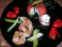 """Tomaten """"Surprise""""  mit Scampi   - eine leckere Vorspeise - - Rezept"""