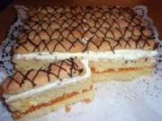 Torte: Orangensaft-Schnitten - Rezept