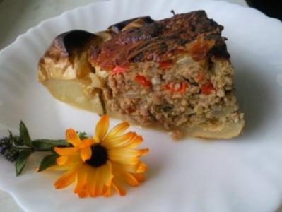 Patisson gefüllt mit Champignon-Kräuterhackfleisch - Rezept