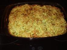 Zucchiniauflauf mit Spätzle und Kartoffeln - Rezept