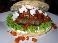 Focaccia-Burger - Rezept