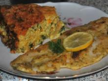 Reiskuchen mit Zucchini und Rucola - Rezept