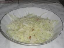 Warmer Krautsalat (Weißkohl) - Rezept