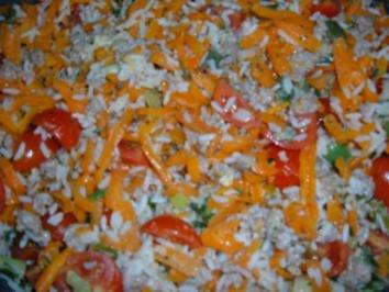 Hack : Reis - Möhren - Hackpfanne - Rezept
