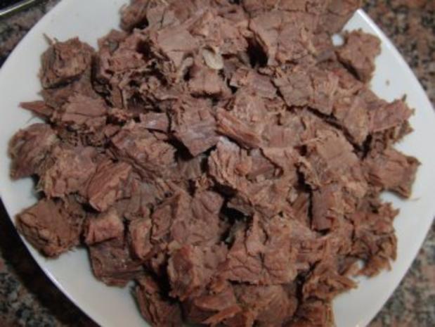 Suppe : Grießklößchen-Eintopf mit viel Gemüse und Rindfleisch - Rezept - Bild Nr. 3