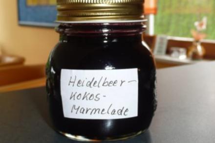 Marmelade: Heidelbeer - Kokos - Orangen - Rezept