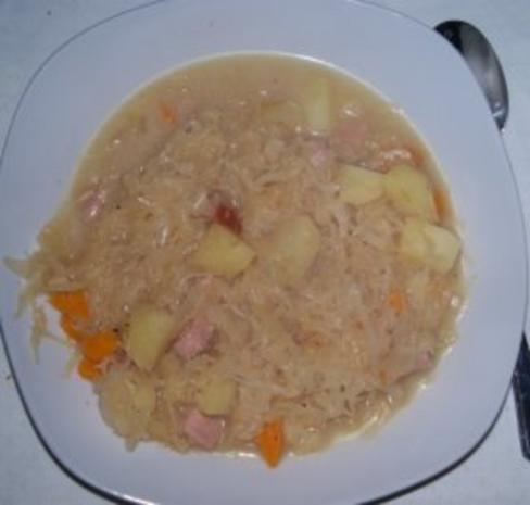 Kassler-Sauerkraut-Kartoffeltopf - Rezept