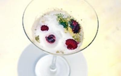 Geliertes Winzersorbet mit Brombeerinfusion dazu geeiste Melonen Lolly Pops - Rezept - Bild Nr. 9