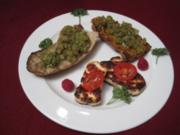 Geröstetes Baguette mit Halloumi und Tomaten - Rezept