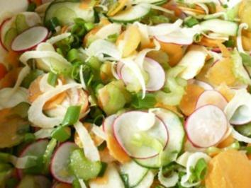 Sommersalat mit Orangen - Vinaigrette - Rezept