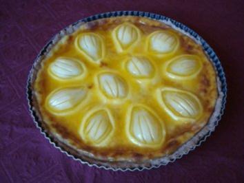 Rezept: Rahm - Birnenkuchen