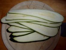 VORSPEISE:  gebratene Zucchinischeiben zweierlei Art - Rezept