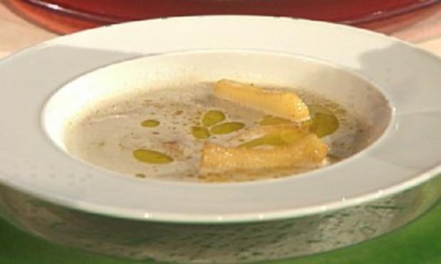Maronensuppe mit karamellisiertem Chiliapfel á la Kleeberg - Rezept
