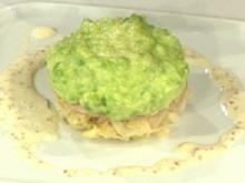 Gratin vom Berliner Eisbein mit Sauerkraut, Erbsenpüree und Senfsauce (Marlene Lufen) - Rezept