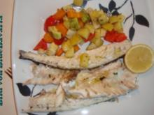 Fischgerichte: Wolfsbarsch gebraten - Rezept