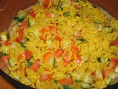 Schneller Curry-Reis-Salat - Rezept
