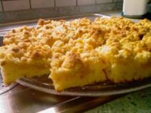 Saftiger Apfel- Blechkuchen - Rezept
