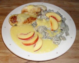 Hähnchenbrust in Mango - Pfirsich - Sauce - Rezept