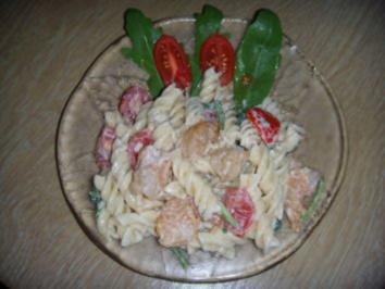 Fusilli-Salat mit Garnelenschwänzen - Rezept