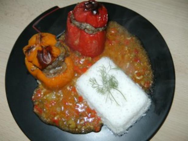 Gynie,s Paprikaschoten mit Paprika,Oliven Sauce - Rezept