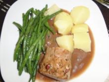 Schwein : Schweinelendchen bei 80 Grad, mit buttergeschwenkten Bohnen - Rezept