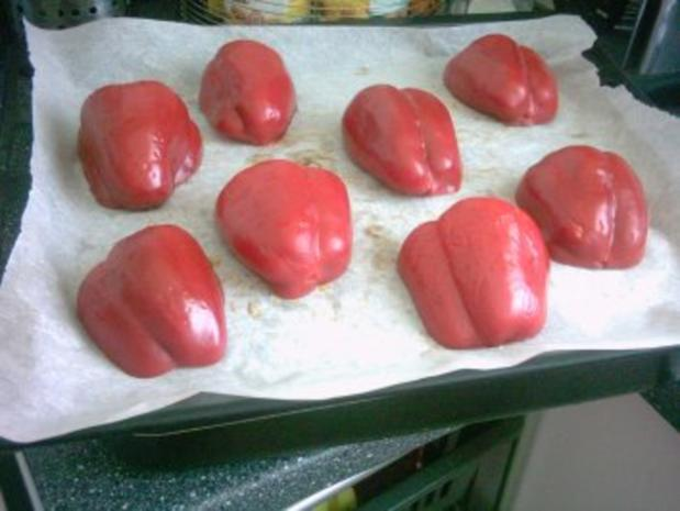 SALAT - geröstete Paprika und gebratene Aubergine - Rezept - Bild Nr. 2