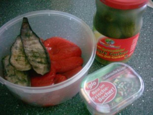 SALAT - geröstete Paprika und gebratene Aubergine - Rezept - Bild Nr. 3