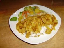 Schnelles Zwiebel-Curry-Hühnchen mit Ananas - Rezept