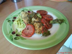 Fischfilet mit einer Maismehl-Sesam-Chili-Marinade - Rezept
