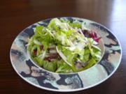 Rindsgeschnetzeltes mit Reis und Salat - Rezept