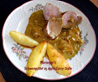 Schweinefilet mit Apfel-Curry-Soße - Rezept