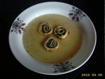Suppeneinlage Pfannkuchenschnecken - Rezept