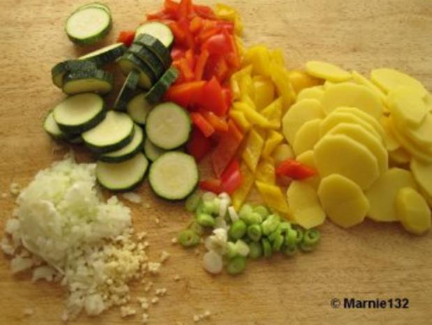 Sommer-Tortilla (Tapas) - Rezept - Bild Nr. 3