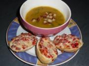 Süppchen: Karotten - Kartoffelsuppe mit Croutons - Rezept