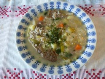 Meine Graupensuppe mit Rindfleisch - Rezept