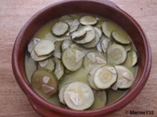 marinierte Zucchini - Rezept