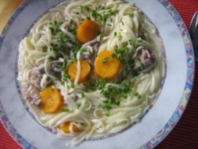 Nudeleintopf mit Rindfleisch und Gemüse - Rezept