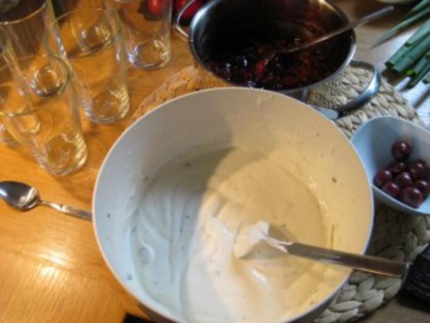 Joghurt-Mintcreme auf Kirschen ...vonne Sabine - Rezept - Bild Nr. 7