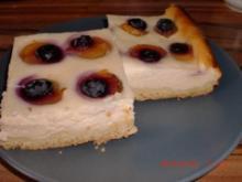Backwaren: Mirabellen-Heidelbeeren-Käsekuchen - Rezept