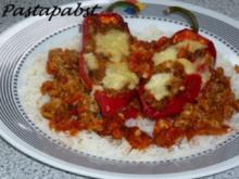 Gefüllte Paprika auf Reisbett - Rezept