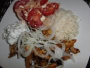 Huhn : Hähnchen-Gyros mit gigantischem Zaziki - Rezept