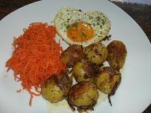 Kartoffel:  DRILLINGE...  gebraten an Schalotten - Rezept