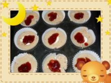 Muffins mit Erdbeercreme - Rezept