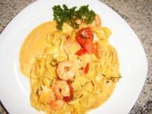 Curry-Garnelen mit Curry-Ananas-Nudeln - Rezept