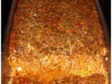 Spaghetti Zucchini mit Schafskäse überbacken - Rezept