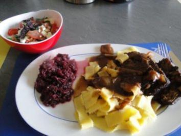 Rezept: Rinderbraten (Bug) gespickt mit Knoblauch