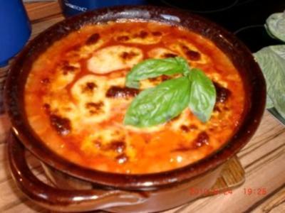 Auflauf: Roter Nudel-Hackauflauf mit Mozzarella - Rezept