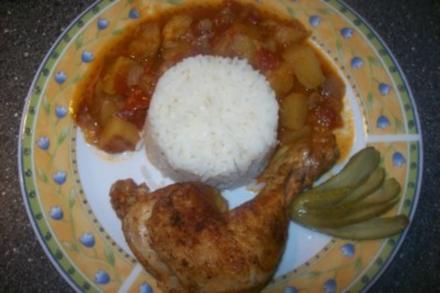 Hähnchen geschmort - Rezept