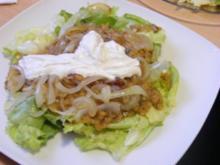 Warmer Linsensalat mit Ziegenkäse - Rezept
