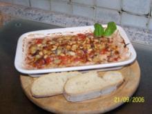 Gratinierte rote Zwiebeln mit Gorgonzola - Rezept